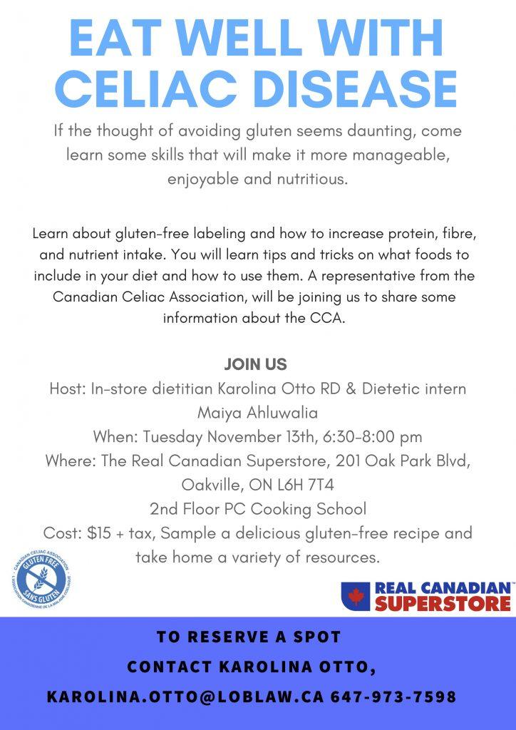 Eat-well-with-Celiac-Disease Flyer - Canadian Celiac Association